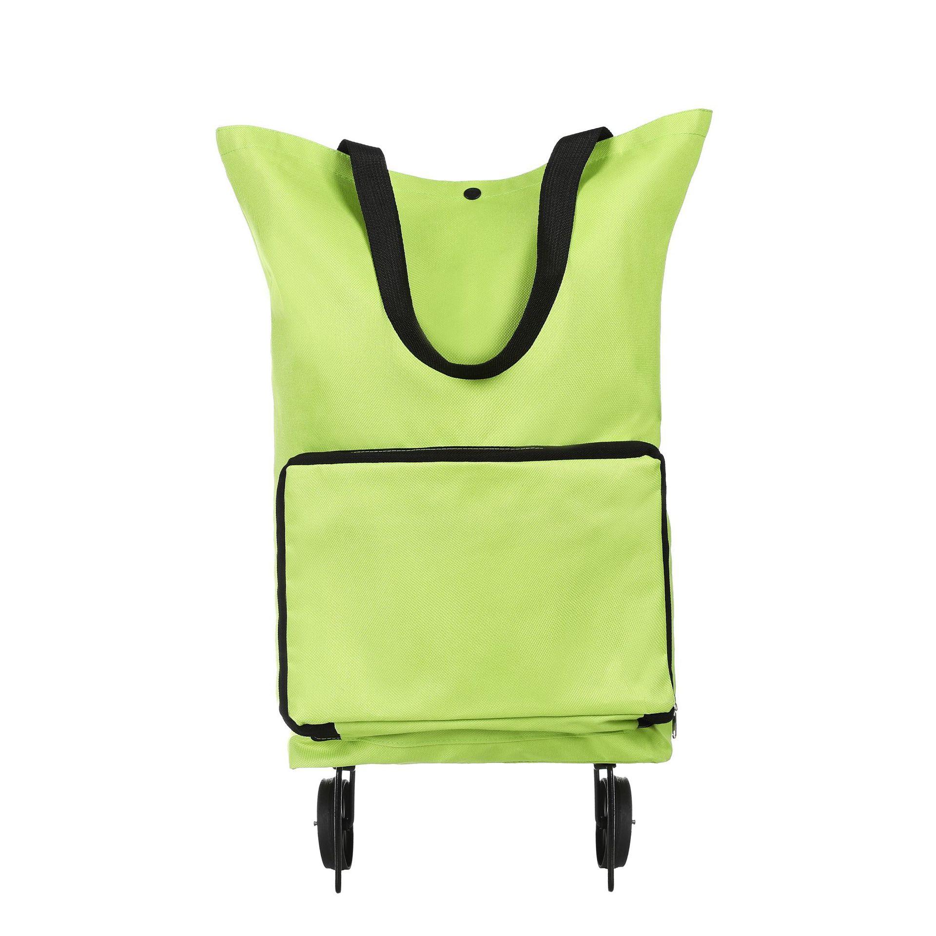 Оптовая продажа, Бытовая Складная Тележка из полиэстера для путешествий, багажа, тележка для супермаркета с колесами