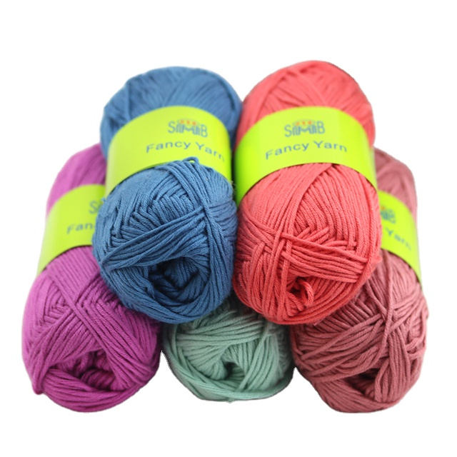 yarn factory delivery fast good feel Hot Sale Bamboo Blended Cotton Yarn for Hand Knitting Crochet Sweater or DIY Toy