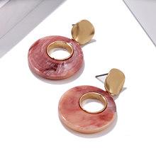 2020 круглые Висячие серьги для женщин, модные массивные круглые висячие серьги золотого цвета, ювелирные аксессуары.(Китай)