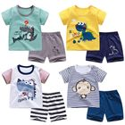 Wholesale Custom Baby Clothes Cotton Cute Print Short Sleeve Suit Kids Clothing Childrens Clothing