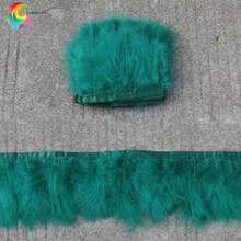 Пурпурно-красная отделка перьями Марабу бахрома 6-8 дюймов перья ленты свадебное платье Швейные декоративные шлейф(China)