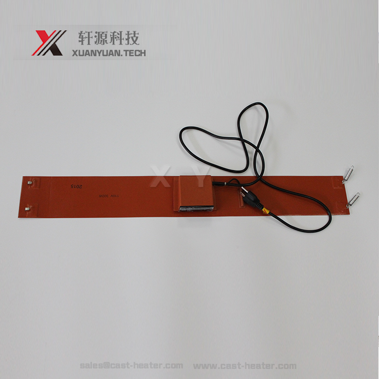 1200*340mm insulation silicone rubber heater plate with K type plug