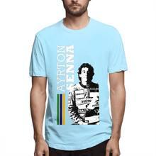 Мужская футболка с короткими рукавами Ayrton Senna, качественная футболка с коротким рукавом из хлопка XS-3XL, уличная одежда, Новое поступление 2020(Китай)