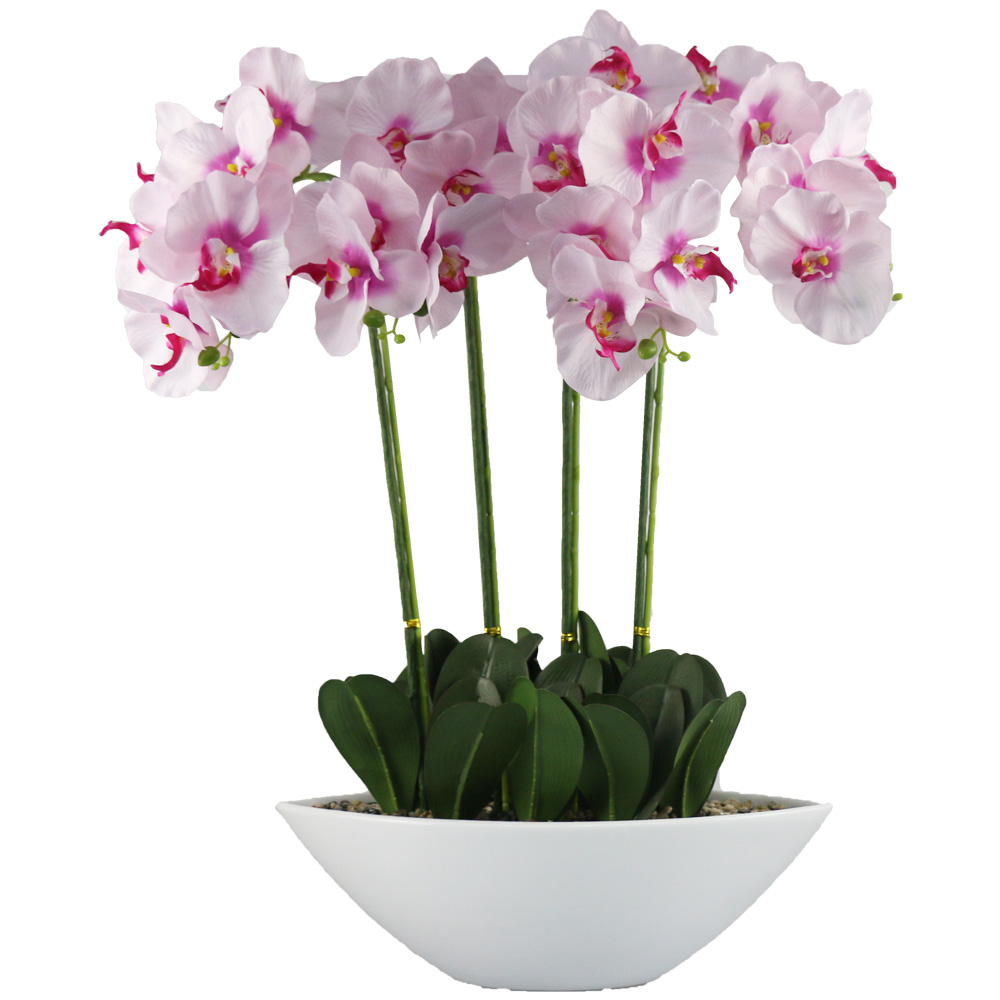 Artificial orchid bonsaiHot sale of artificial butterfly and orchid Artificial Butterfly Orchid for Indoor Decoration