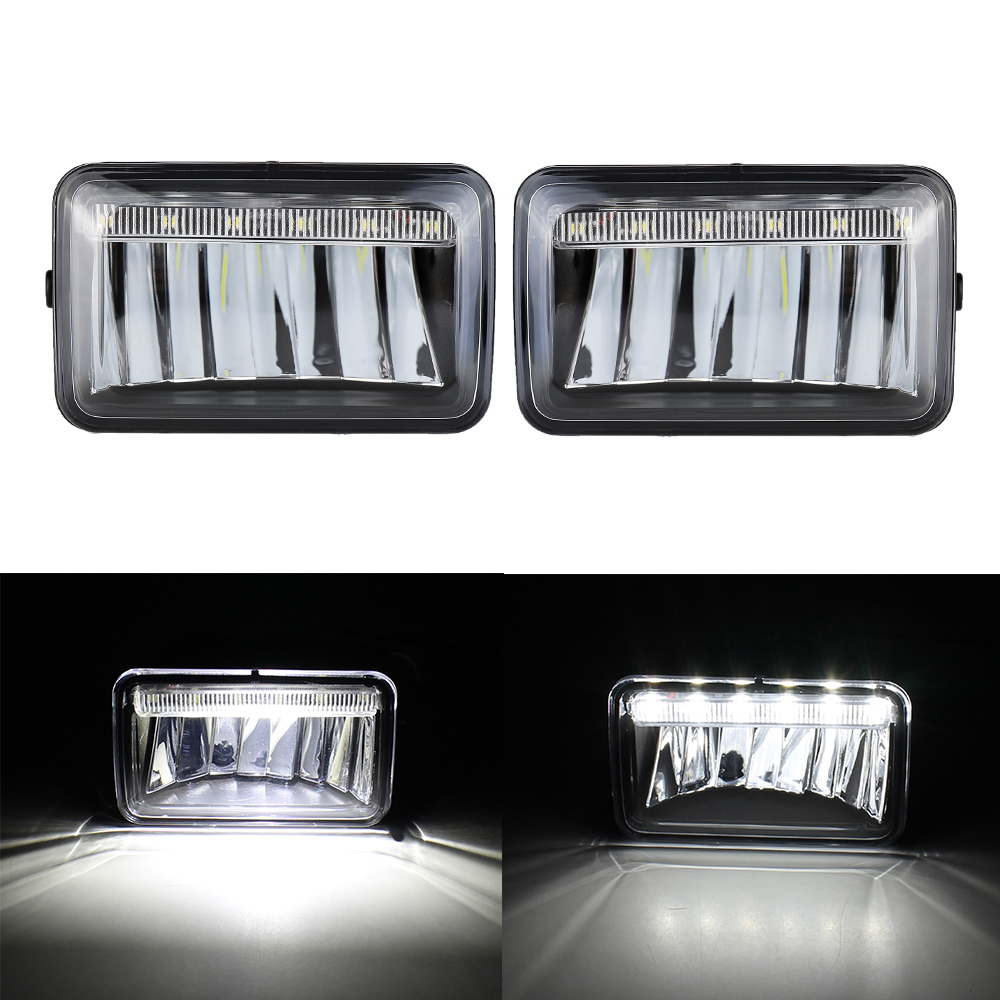 LED Fog Light DRL Replacement for Ford F150 2018-2020 F-150 Fog Driving Lamp Assembly Kit