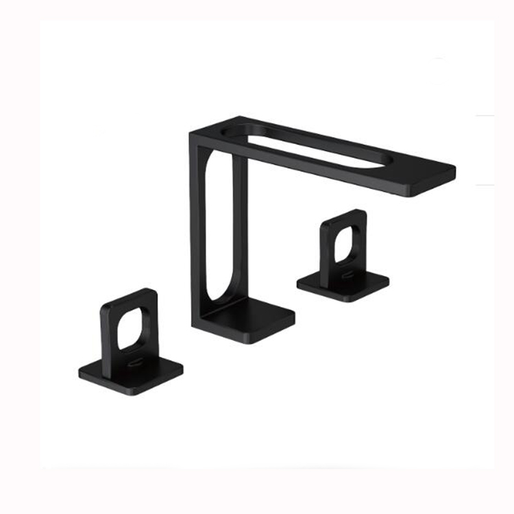 New Designer Black Bathroom Sink Faucet Three Hole Deck Basin Faucet Buy Faucets Mixers And Taps Water Taps Designer Faucet Product On Alibaba Com