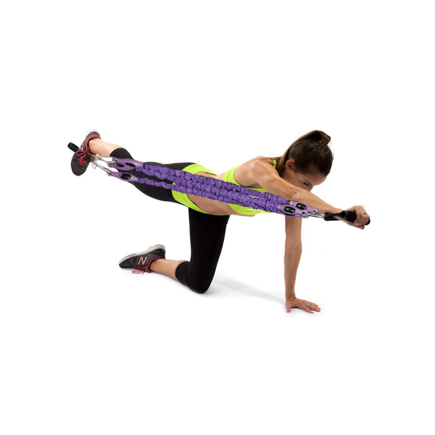 Elastic Sit Up Pull Rope Spring Tension Foot Pedal Abdomen Leg Exerciser