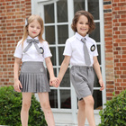 China Factory Price OEM Upmarket School Shirt and Shorts Malaysia School Uniform for Kindergarten Primary Children