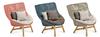 high back sofa chair with teak wood leg