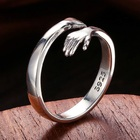 Ring Silver Rings Popular With Children Palm Pattern Ring Pure Silver Stainless Steel Ladies Rings