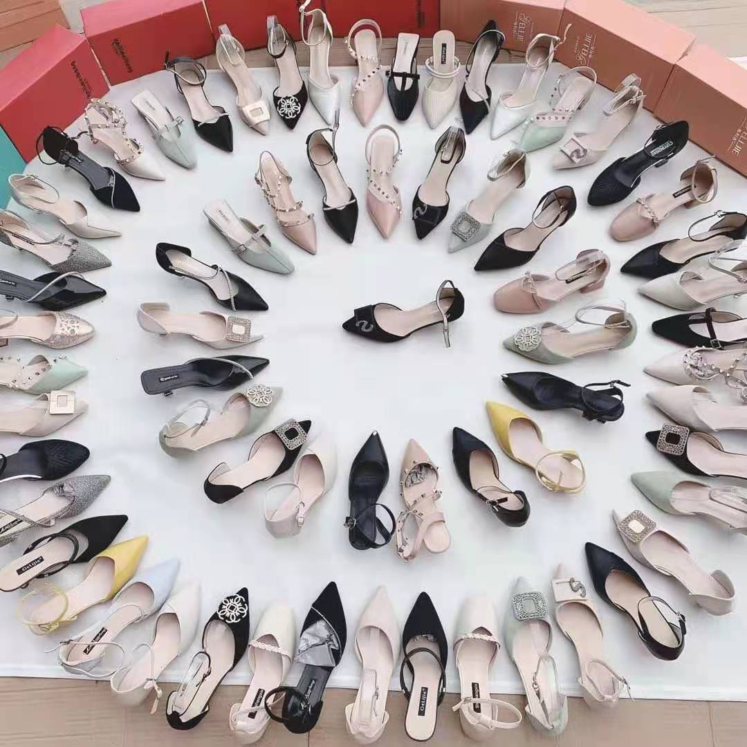 2021 new design mix style shoes stock top sell best quality thin women shoes fashion walking casual dress ladies high heels