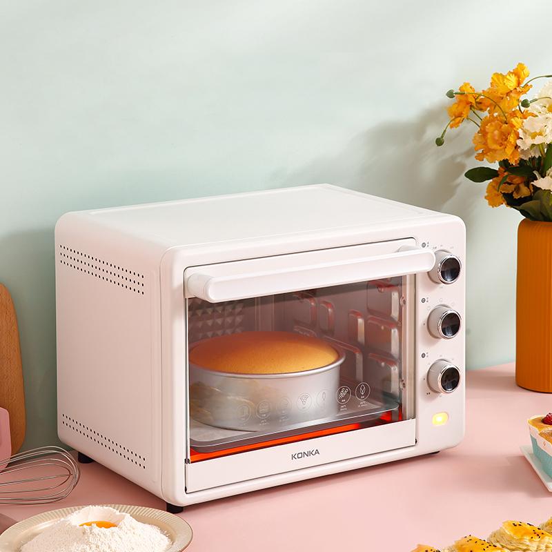 Большая печь KONKA 40 л с вентилятором горячего воздуха для пиццы, торта, фермента, дегидрата фруктов, обжарки, гриба индейки
