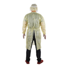 Suit White Yellow Blue Long Sleeve Disposable Isolation Suit Disposable Safety Clothing