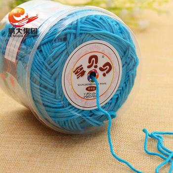wholesale factory price hand knitting 100 organic baby mercerized combed yarn buyers crochet 100% cotton yarn