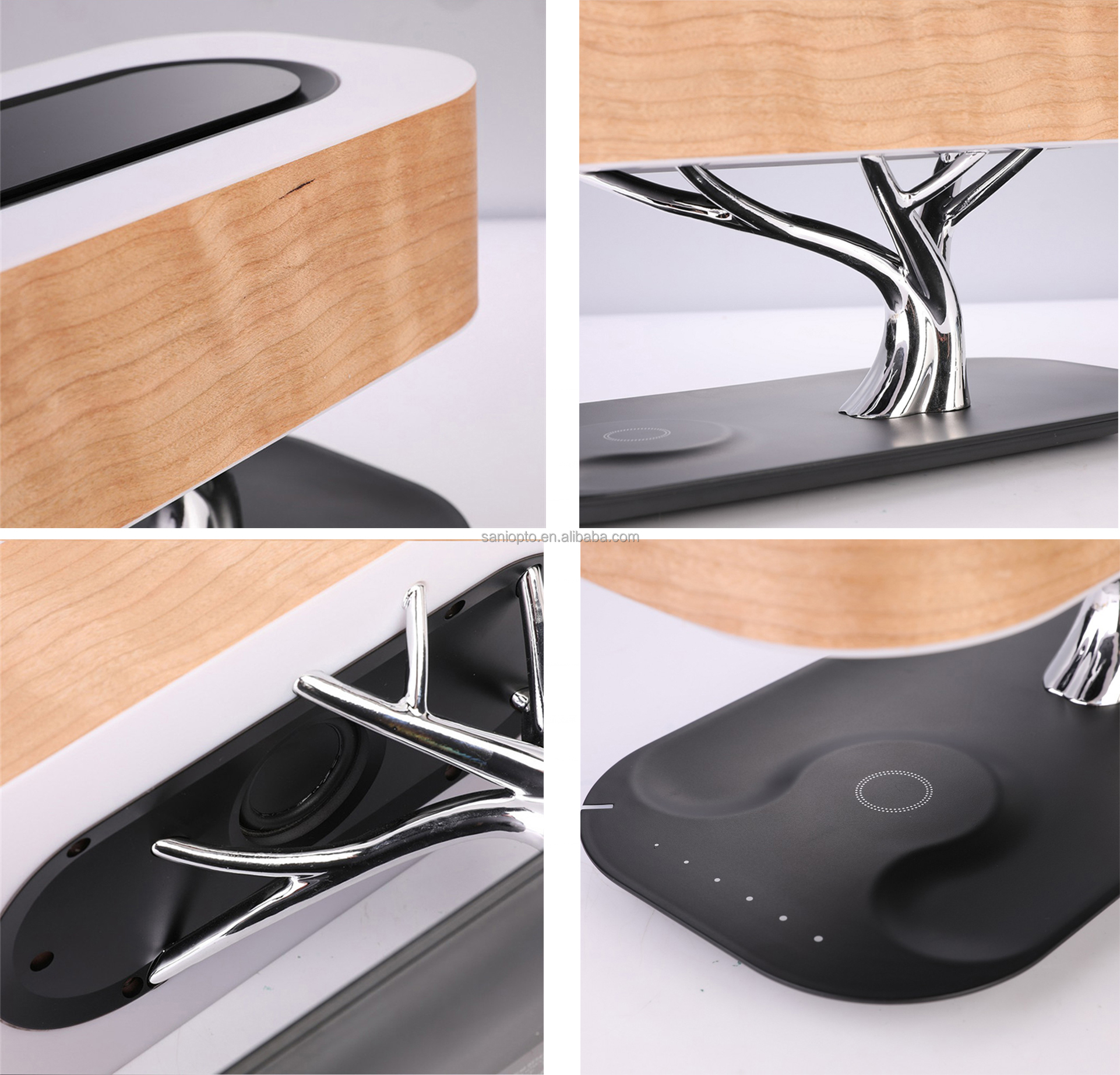 2021 latest gadget new technology LED bedside lamp bt speaker desk lamp Sleep Mode Stepless Dimming (Exclusive)