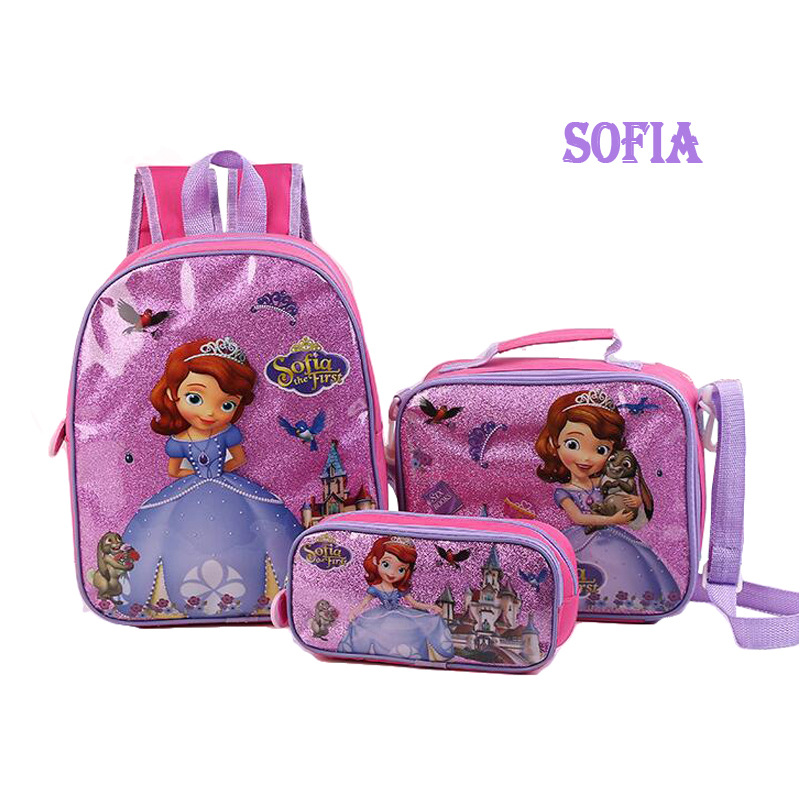 School Backpack Travel Lunch Bag Pencil Case For Kids