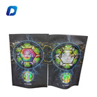 Custom design 3.5g stand up bags plastic laminated material with resealable zip holographic mylar pouch