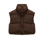 Newest custom women puffer short style jacket vest factory