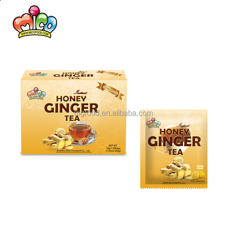 Custom Wholesale Mico Lemon Flavor Honey Ginger Drinks Instant Food Tea - 4uTea   4uTea.com