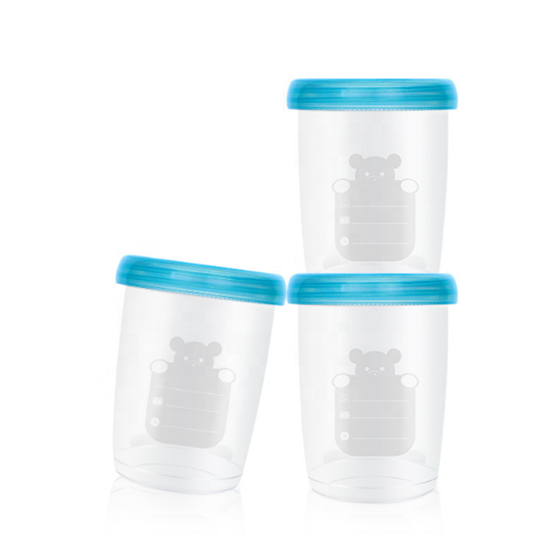 2020 New Product Leakproof 240ml/8oz Multifunctional Baby Food Containers With Lids/Food Storage Cups For Baby