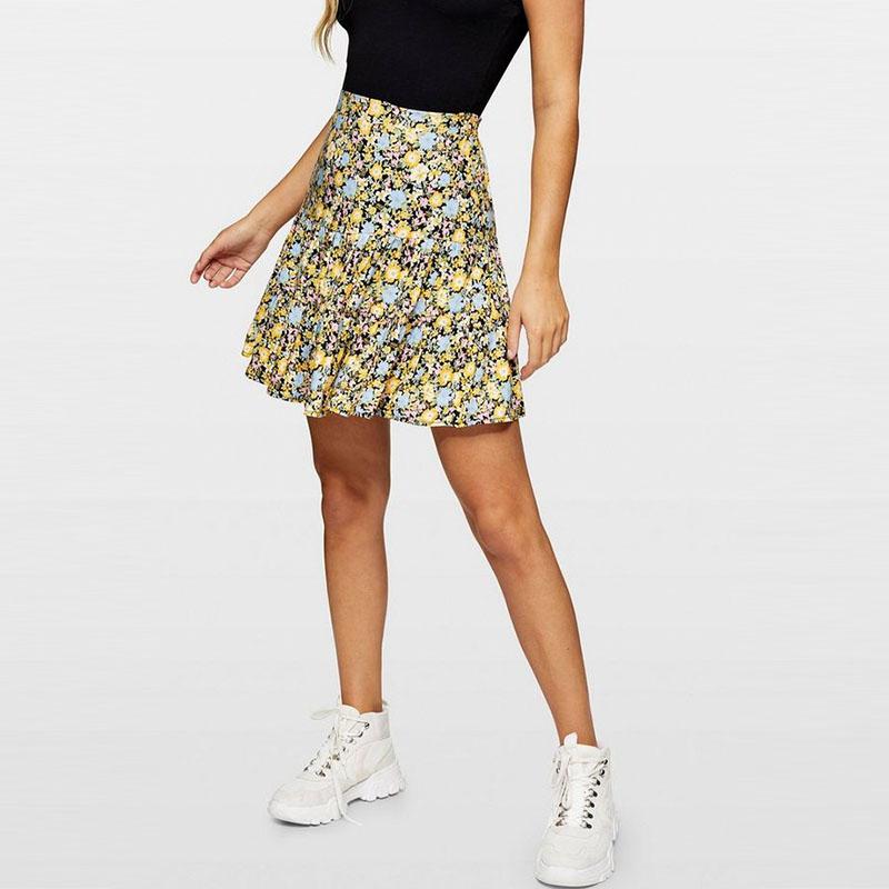 Mini skirts loose Women Fashion Skirt Floral Print Tier Design Mini Skirt High Waist Loose Fit Casual Skirts Buy Women Fashion Skirt High Rise Skirts Floral Print Skirt Product On Alibaba Com