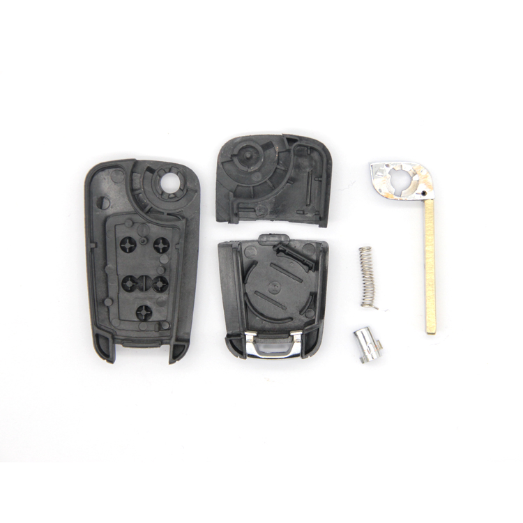 Car Remote Key Replacement Case Car Flip Key Shell in High Quality Blade with 5 Buttons for BK