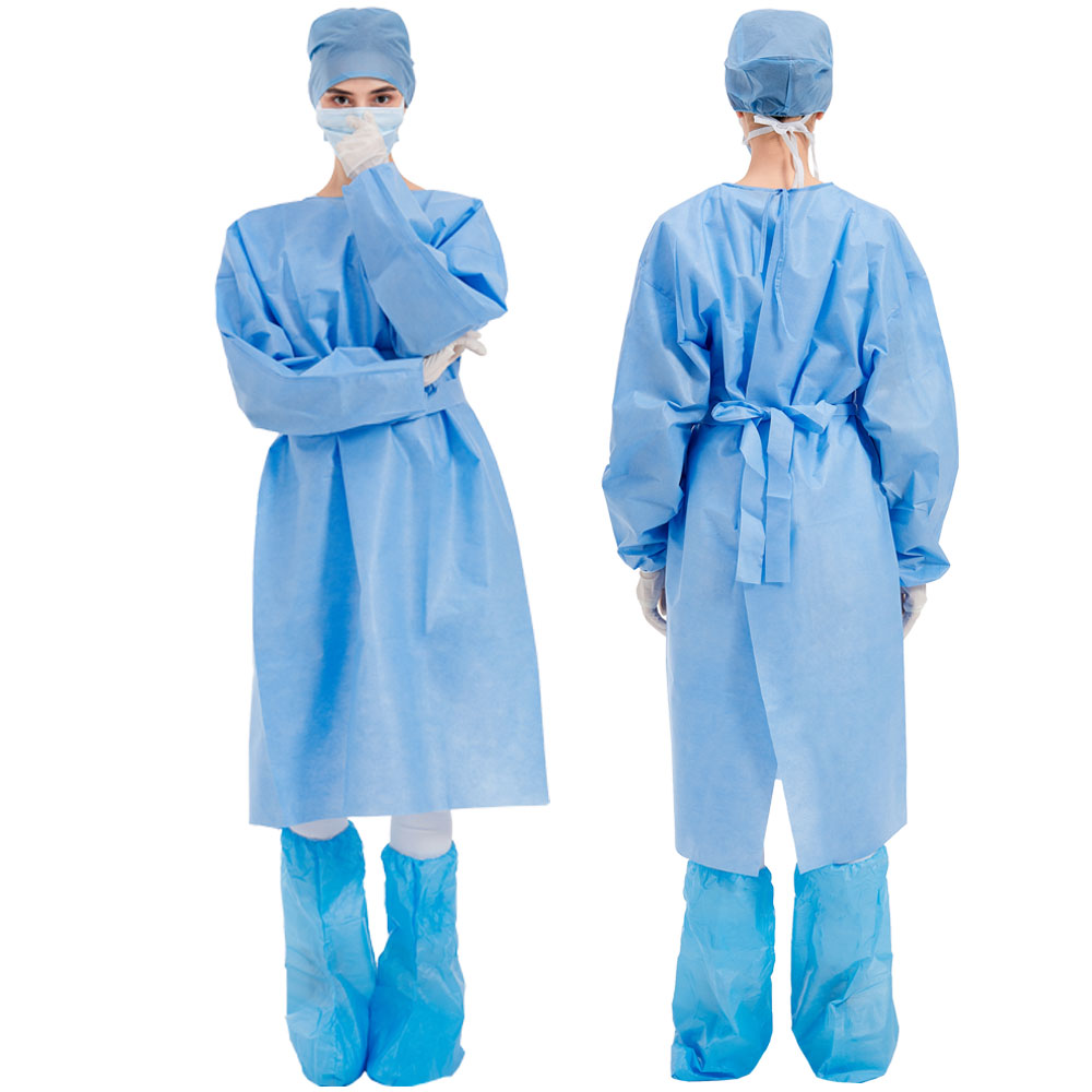Fast delivery disposable blue nonwoven isolation gown aami level 3 - KingCare | KingCare.net