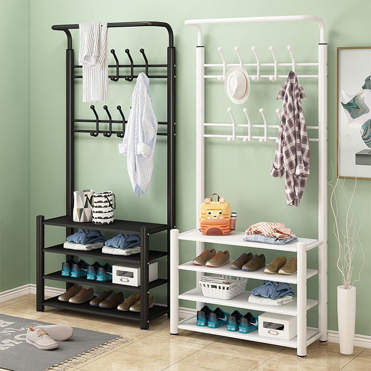 Waterproof Coat Racks Multi-Row Hook Coat Hanger Bold Stand Home Luxury Furniture