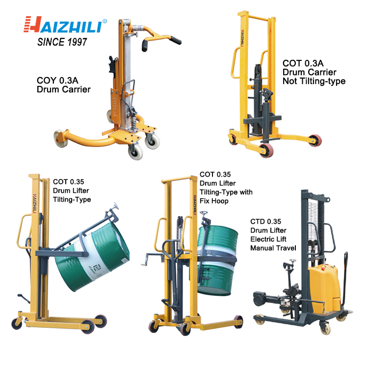 Oil Drum Tool Lifting Height Drum Trolley CE,ISO9001 Bearing,pump HAIZHILI Provided Easy-carrying CN;GUA Online Support 420kg