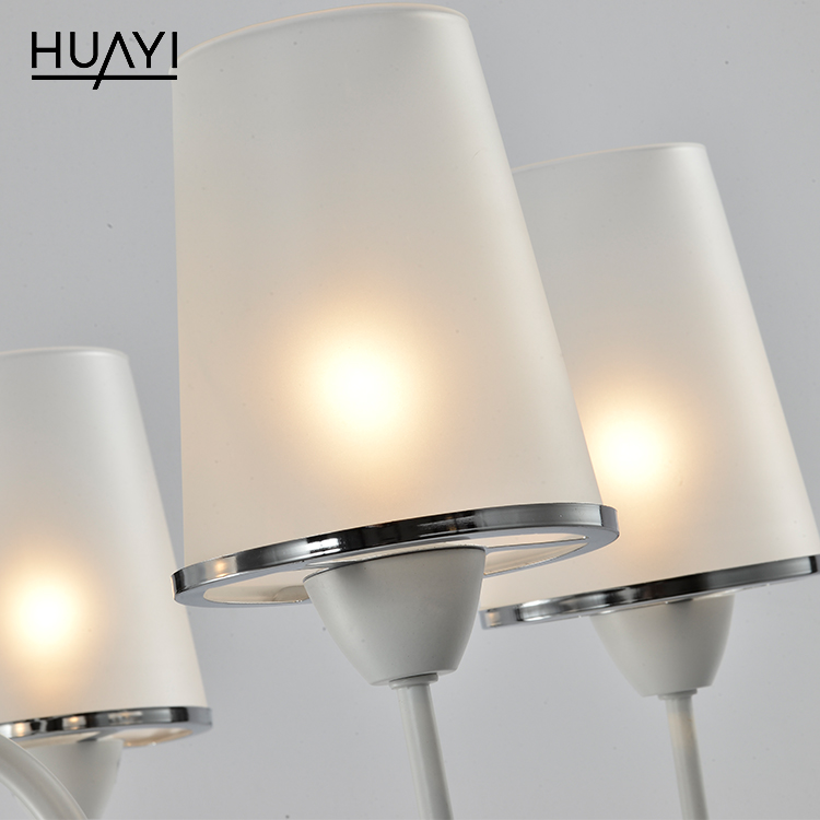 HUAYI Hot Sale Modern Simple Style Dining Room Metal Glass Indoor Decoration Chandelier Lamp