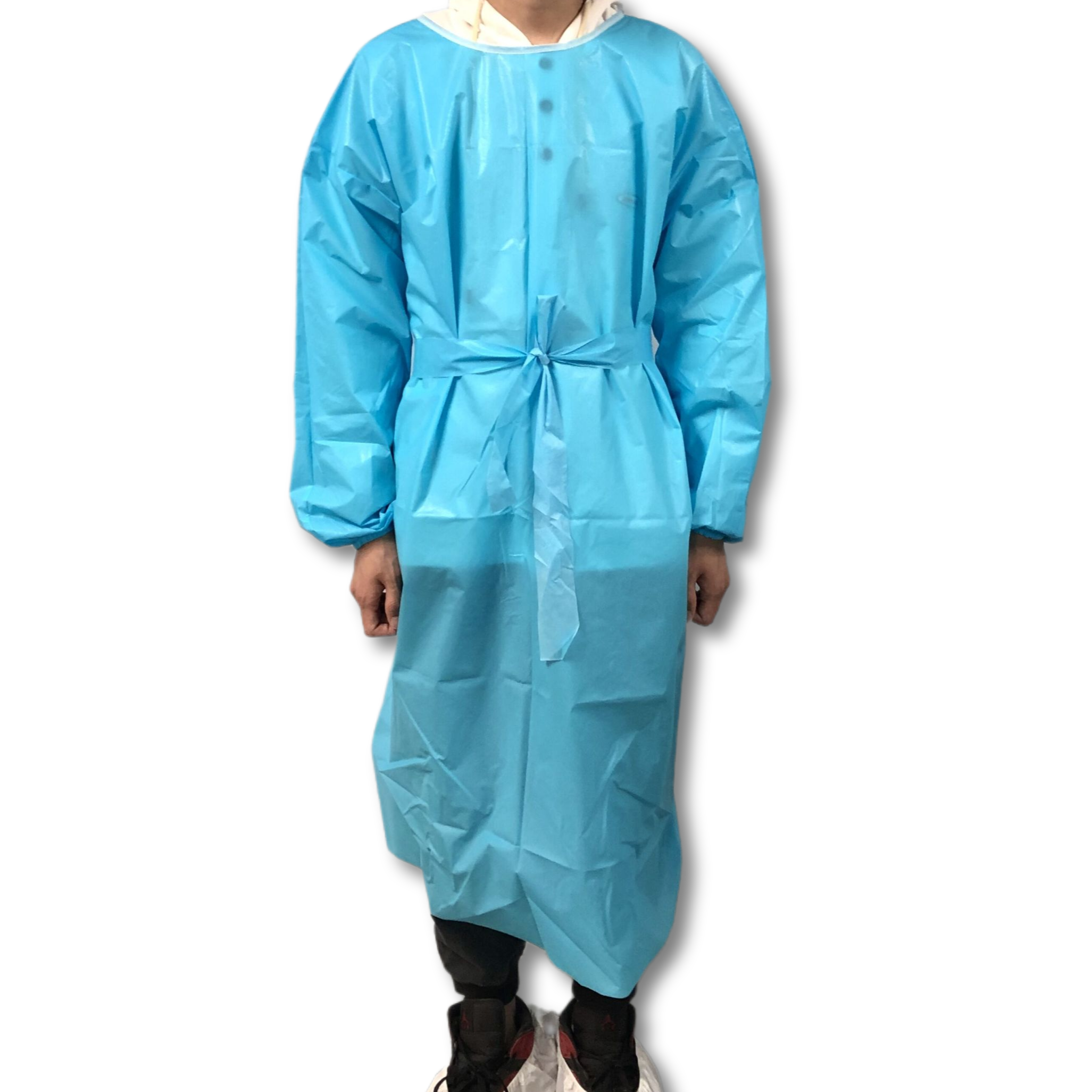 50 pack ppe gown disposable waterproof pe coated pp non woven dustproof waterproof isolation gown - KingCare   KingCare.net