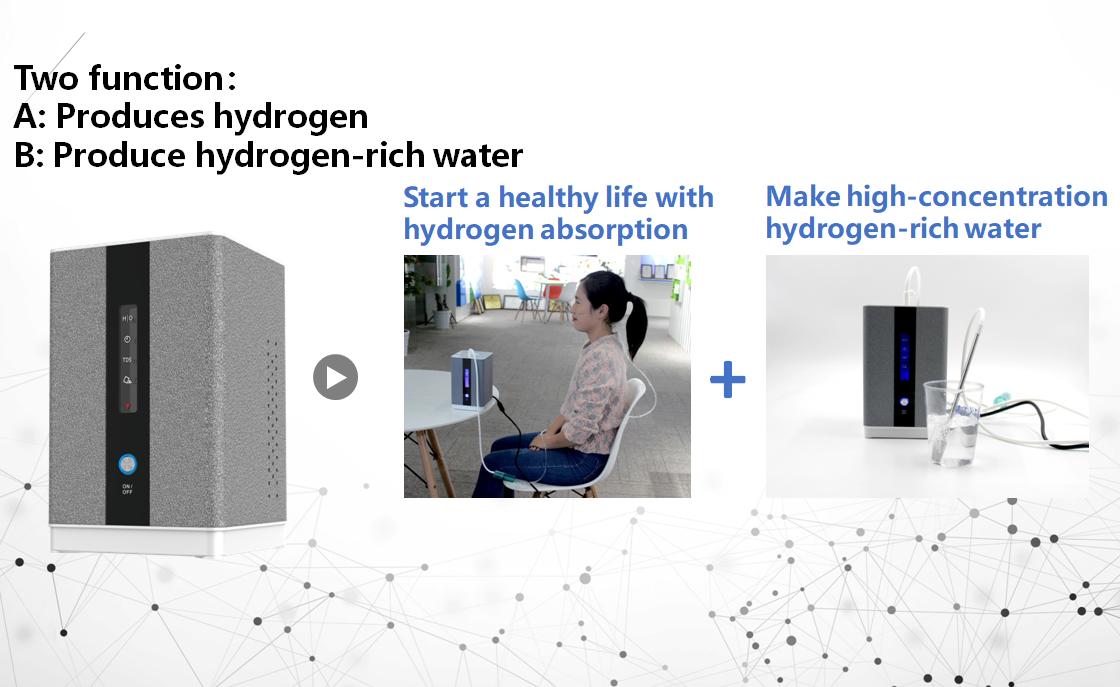 99.99% pure health gas inhalation machine PEM portable hydrogen generator