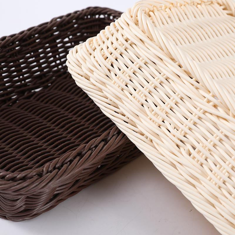 Универсальная пластиковая плетеная корзина для хранения десертов
