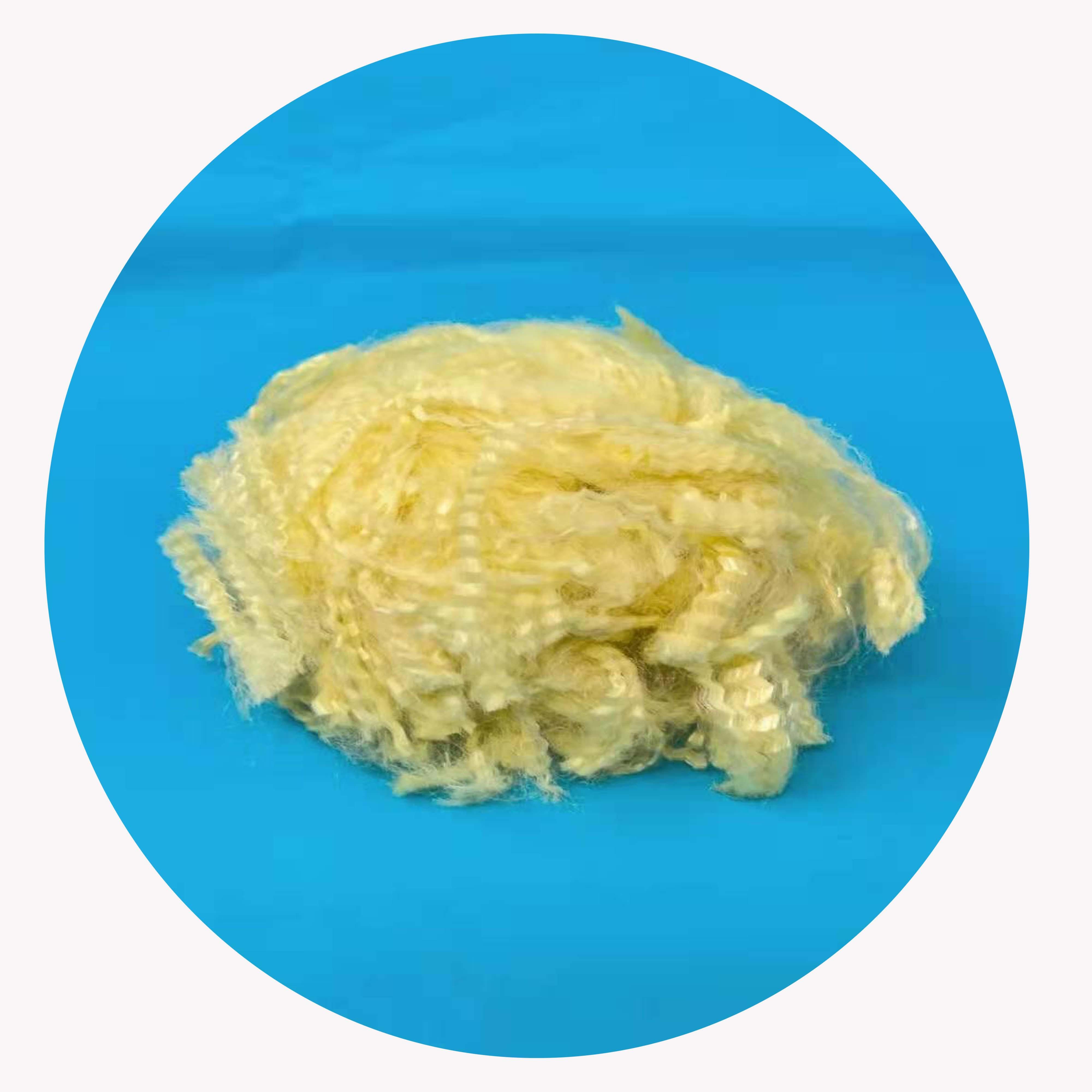 Золотисто-желтое арамидное штапельное волокно для спиннинга