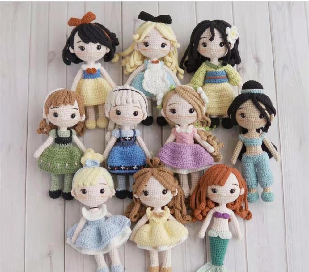 Ручная работа Amigurumi вязанные игрушки известные куклы принцессы