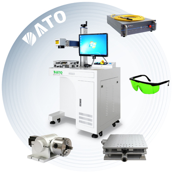 Hot sale China factory Desktop Fiber Laser Marking Machine yag-50 for jewellery,metal,watches,camera,auto
