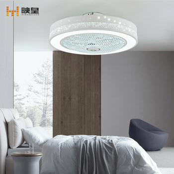 50/60cm diameter Changeable Light LED Silent Remote Control 40w Bedroom Ceiling Fan with Light