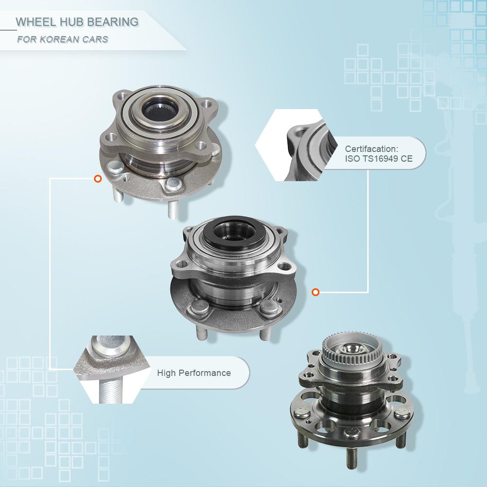 ZPARTNERS wheel hub bearing unit for Ssangyong CorandoSsangYong Rest 2002- rear 42420-34000