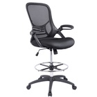 Swivel Mesh Drafting Chair Office Desk Chair with Chrome Footring