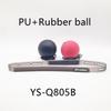 पु गेंद काले और रबर की गेंद लाल