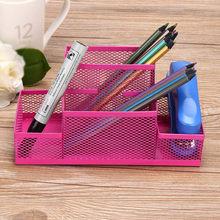 Многофункциональная металлическая сетка для домашнего офиса, держатели для ручек, Офисная ручка, подставка для карандашей, стол, канцелярс...(Китай)