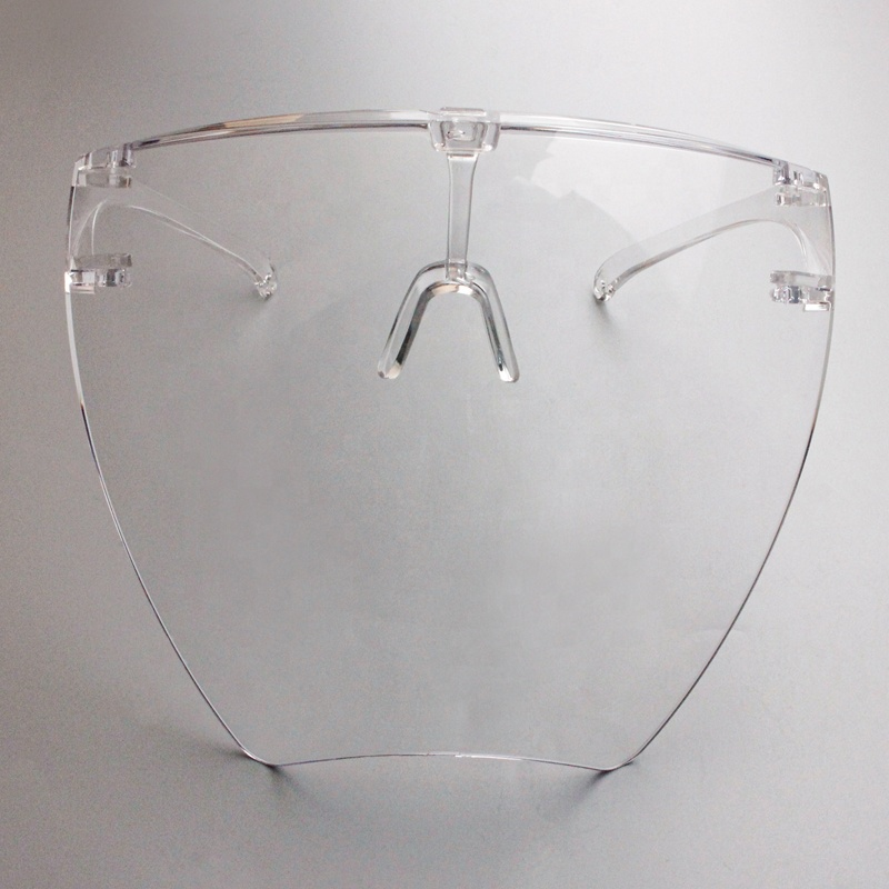 Protective Anti-Fog Face Shield Goggles Clear Transparent Faceshield Glasses Full Face Shield Visors