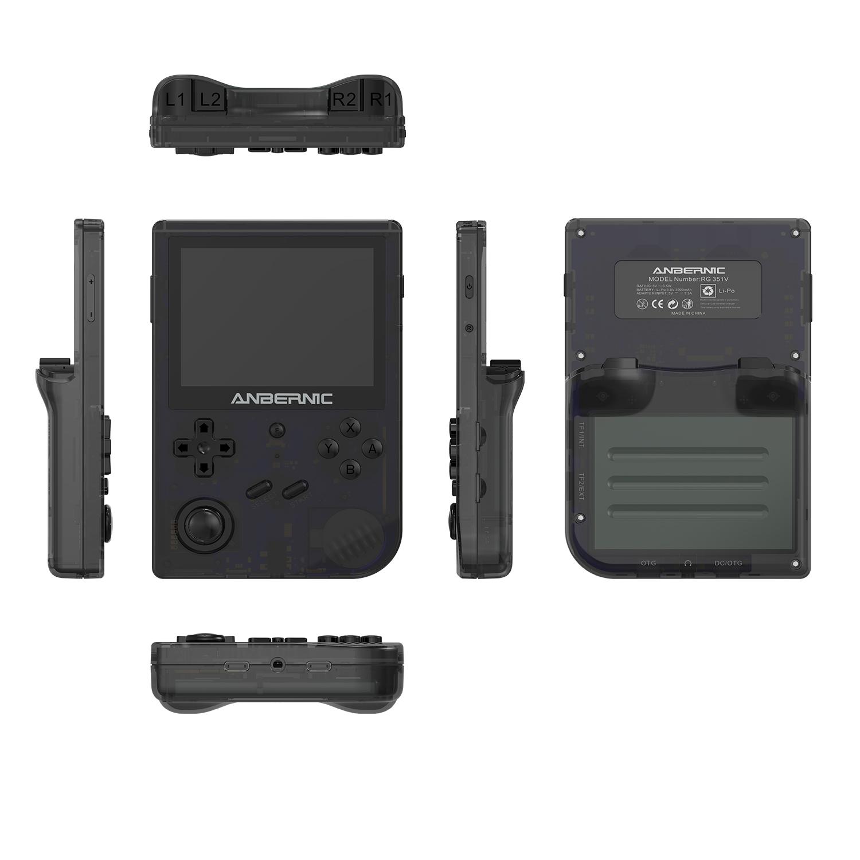Latest Anbernic Handheld game console Retro Mini RG351v 16GB 5000 Games WiFi Module 3.5-Inch Game Console Latest Anbernic Handheld game console Retro Mini RG351v extra TF Card 5000 Games WiFi Module 3.5-Inch Game Console