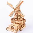 Wooden Craft Wooden Gift Wooden Craft Kit House Model Kit Gift 3D Wooden Dutch Windmill Assembly Puzzle