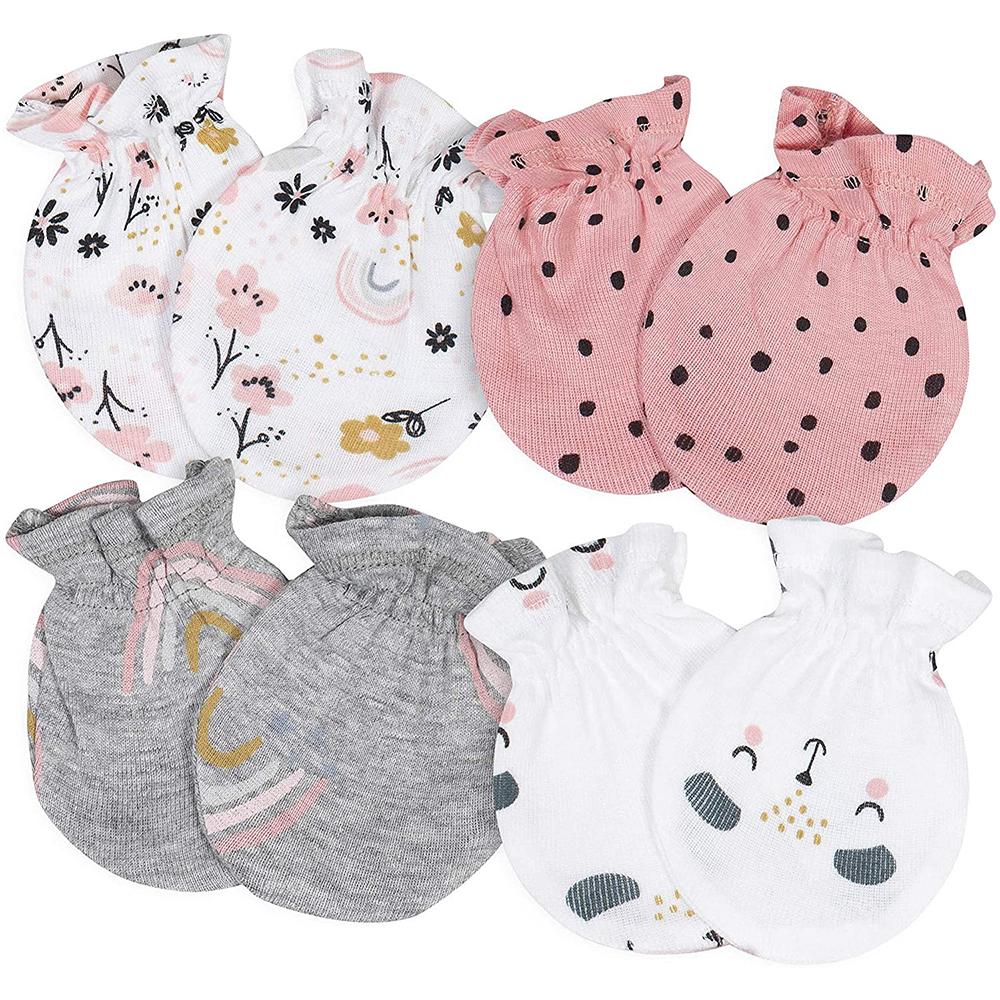 Baby-Girls 4-Pair Mittens