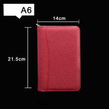 Папка для менеджера A6/A5/B5, записная книжка, дневник, блокнот и дневник, калькулятор, спиральная записная книжка, деловая сумка на молнии, лине...(Китай)