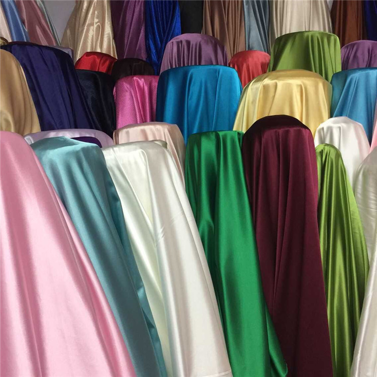 100% Polyester Woven Stain solid fabric with soft touch for pajamas/dress/bedding/fashion cloth