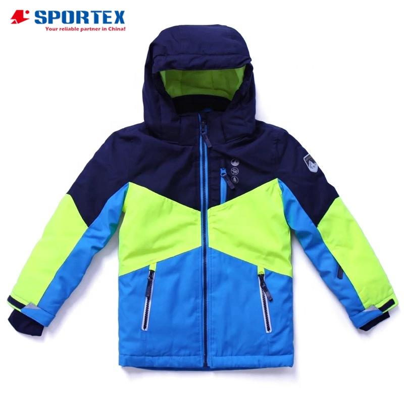 OEM fully seamtaped nylon waterproof breathable children winter jacket, kids padded jacket, boys winter coat