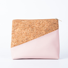 Bag Clutch Bag Eco Friendly Cork Bag For Women Travel Bag Cork Natural Makeup Cosmetic Pouch Vegan Cork Clutch Bag With Zipper