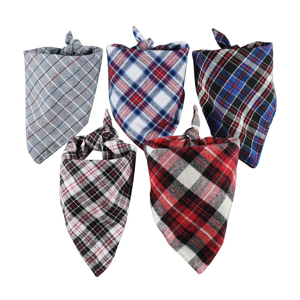 Soft plaid dog bandana